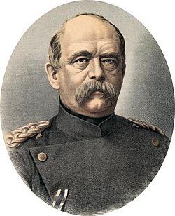 Otas fon Bismarkas - Prūsijos ir Vokietijos XIX a. politikas, vykdė daug reikšmingų permainų, Prūsijos ministras pirmininkas, prižiūrėjęs Vokietijos suvienijimą.