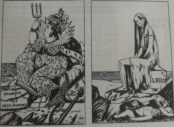 Anglija ir kontinentinė blokada. Prancūzų karikatūra.