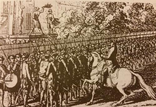 Bausmės Prūsijos kariuomenėje 1774m