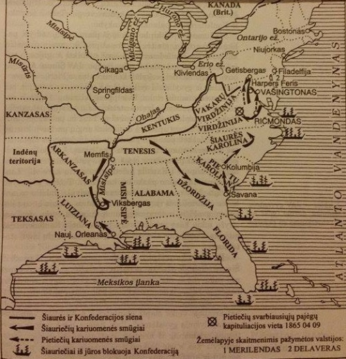 Pilietinis karas Jungtinėse Amerikos Valstijose 1861-1865 m.