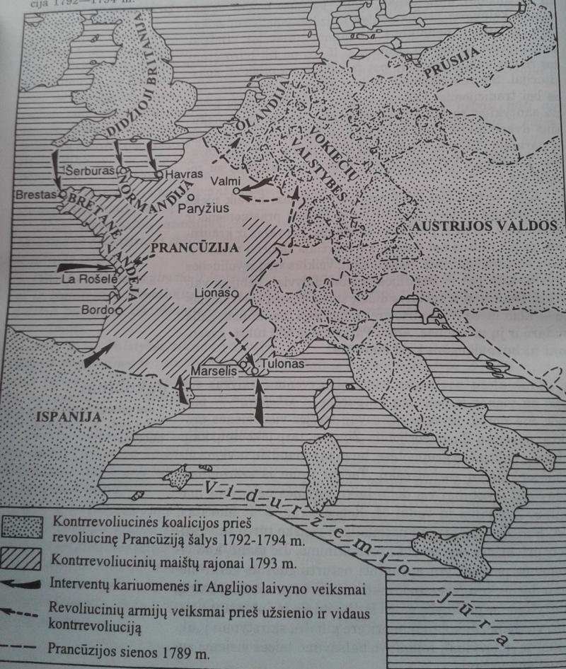 Prancūzijos kova su užsienio ir vidaus kontrrevoliucija 1792-1794 m.