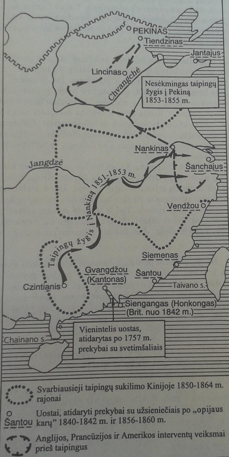 Taipingų sukilimas Kinijoje 1850-1864 m.
