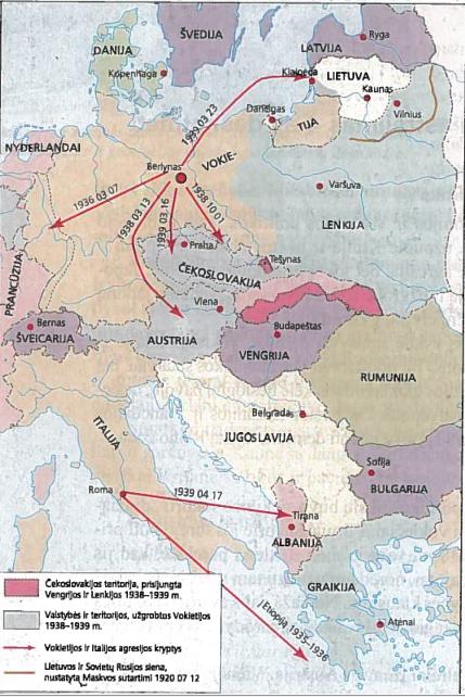 Agresyvi Vokietijos ir Italijos politika 4-ojo dešimtmečio antrojoje pusėje