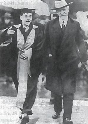F. Nansenas Škotijoje su universiteto studentų atstovu