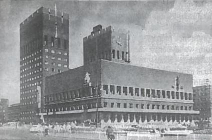 Oslo miesto rotušė pastatyta (1933-1939 m.)
