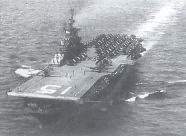 Kare Ramiajame vandenyne daug ką lėmė lėktuvnešiai laivai - aviacijos bazės. Tokio laivo triumuose būdavo kelios dešimtys lėktuvų, kurie atakuodavo priešą net 100-200 kilometrų spinduliu. Lėktuvnešio įgulą sudarydavo keli šimtai vyrų. Keliolika mažesnių laivų jį saugodavo nuo priešo antpuolių. Turėdami beveik šimtą lėktuvnešių amerikiečiai viešpatavo oro erdvėje virš japonų užimtų salų