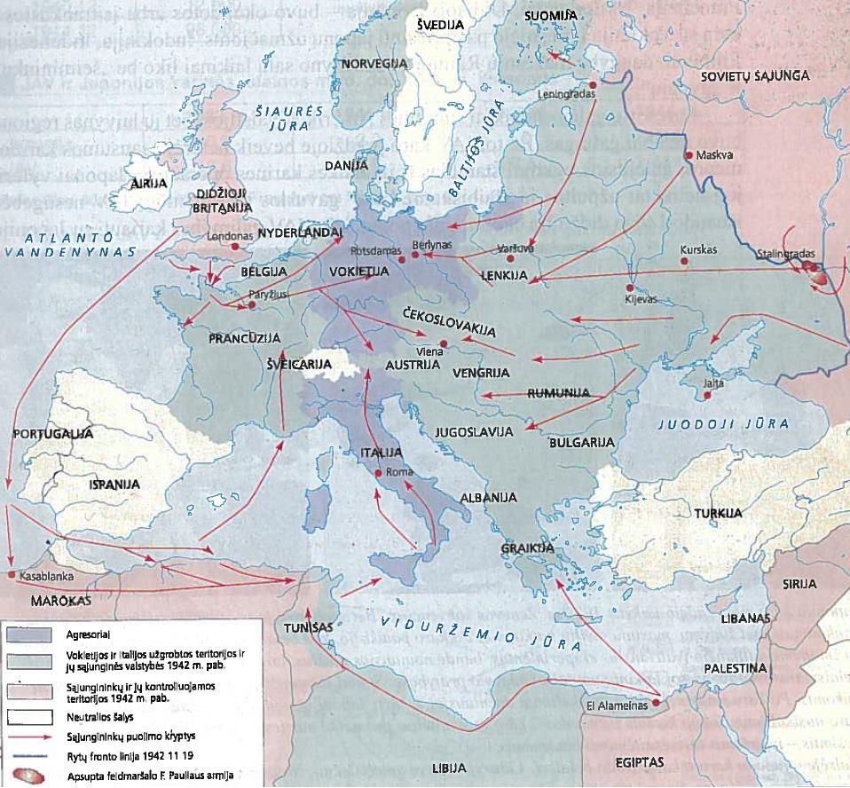 Antrojo pasaulinio karo eiga 1943-1945 m. Vokietijos pralaimėjimas
