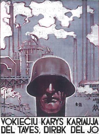 Nacių propagandinis plakatas. 1942 m.