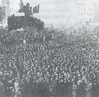 1948 m. vasario 21 d, Prahos centre įvyko demonstracija, palaikanti komunistų siekį iš vyriausybės pašalinu ministrus nekomunistus