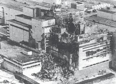 Černobylio AE reaktorius po 1986 m. balandžio 26 d. sprogimo