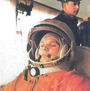 Jurijus Gagarinas - pirmasis žmogus, 1961 m. pakilęs į kosmoso erdvę