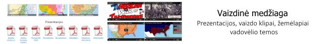 Vaizdinė medžiaga - žemėlapiai, vaizdo klipai, prezentacijos