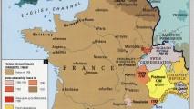 Didžiosios Prancūzijos revoliucijos žemėlapis
