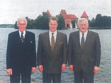 Baltijos valstybių Prezidentai Trakuose - L. Meris, G. Ulmanis, A. Brazauskas (Prezidentas 1993-1998)