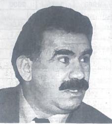 Kurdų išsivadavimo kovos vadovas Abdula Odžalanas, Turkijos saugumo agentą pagrobtas Kenijoje.