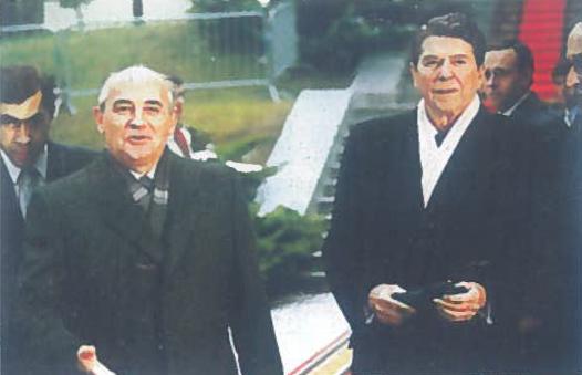 M. Gorbačiovas ir R. Reiganas