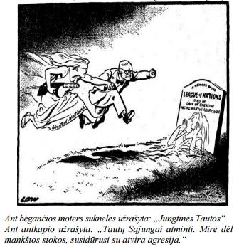 """Karikatūra """"Istorija nesikartoja"""""""