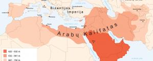 Arabų Kalifato žemėlapis