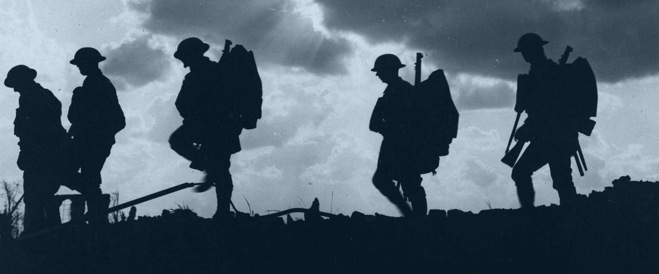 Antrojo pasaulinio karo kareiviai mūšyje