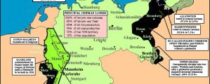 Vokietijos praradimų po Pirmojo pasaulinio karo žemėlapis