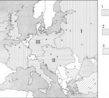 2002 metų valstybinio brandos egzamino Pirmojo pasaulinio karo sąjungų Europoje žemėlapis (šaltinių dalis)