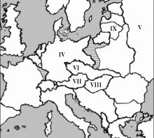 2007 metų valstybinio brandos egzamino Europos po Pirmojo pasaulinio karo žemėlapis (šaltinių dalis)