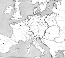 2012 metų valstybinio brandos egzamino Europos po Vienos kongreso žemėlapis (testinė dalis)