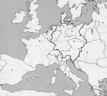 2017 metų valstybinio brandos egzamino Europos po Vienos kongreso žemėlapis (testinė dalis)