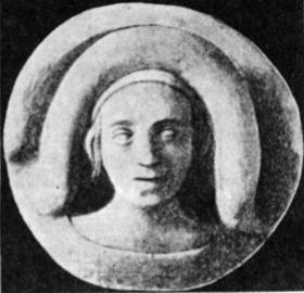 Aldona Gediminaitė. (Taip ji atvaizduota vieno seno Krokuvos pastato skliaute).