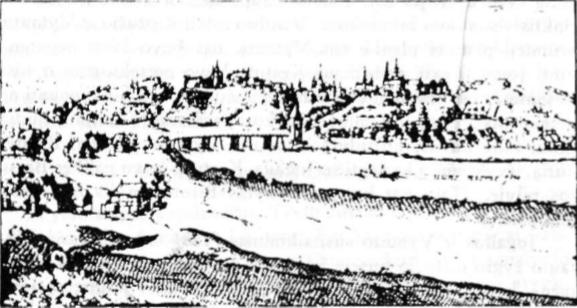 Gardinas XVI amž. (Seniausias Gardino vaizdas).