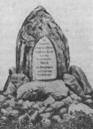Magistro Ulricho v. Jungingeno paminklas prie Tanenbergo.