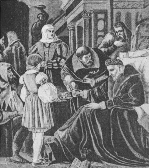 Paskutinės Zigmanto II dienos (†1548 m. balandžio 1 d.; Abramavičiaus paveikslas).
