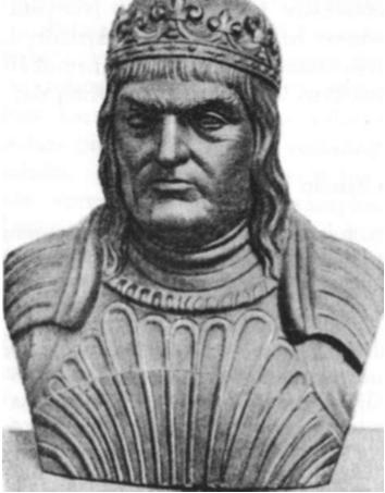 Zigmantas II (Senasis), 1506—1548 m. d. Lietuvos kunigaikštis ir Lenkų karalius (taip jis atvaizduotas Krokuvos katedroje esančiam antkapy).