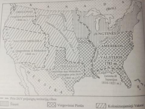 § 13. JAV teritorijos plėtimasis. Kova su vergija