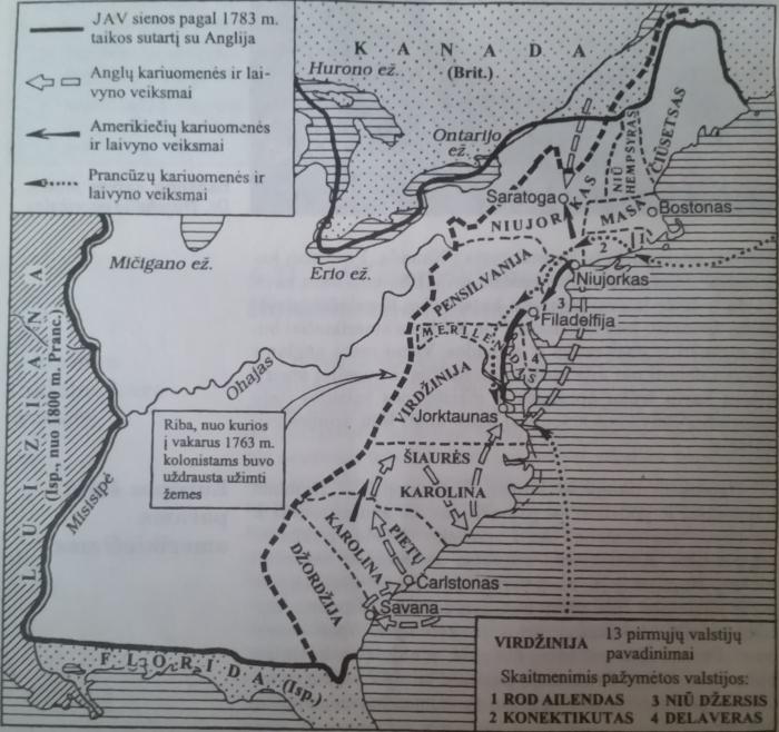 § 11. JAV nepriklausomybės karas. Konstitucijos priėmimas