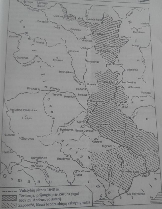 Rusijos karas su Lenkijos-Lietuvos valstybe. Ukrainos prisijungimas