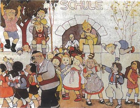 Žydų vaikai ir mokytojai išvaromi iš mokyklos