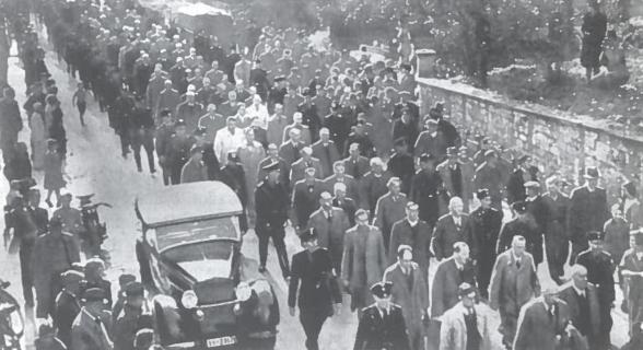 Politinių kalinių kolona Berlynas. 1933 m.