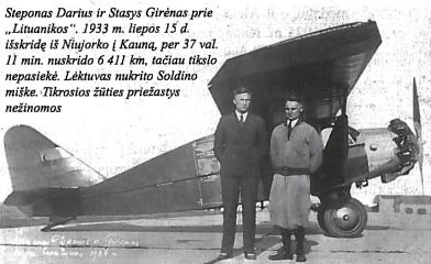 Steponas Darius ir Stasys Girėnas prie Lituanikos