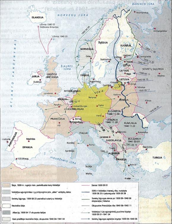 Antrojo pasaulinio karo pradžia. 1939 09-1941 04