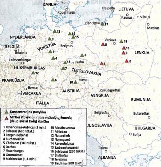 Koncentracijos ir mirties stovyklos Europoje Antrojo pasaulinio karo metu