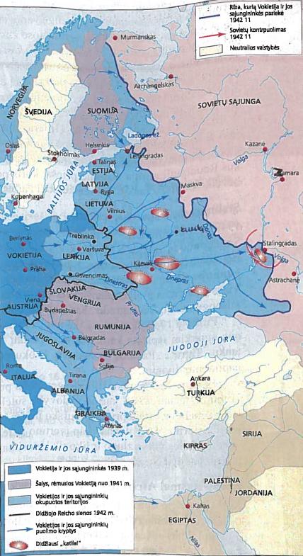 SSRS ir Vokietijos karas. Vokietijos bei jos sąjungininkių puolimas prieš SSRS 1941-1942 m.