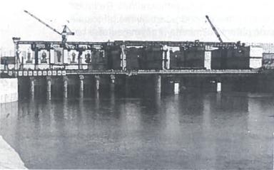 Sovietiniais metais Lietuvoje buvo daug statoma. Kauno HES statyba 1959 m.