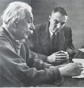 Albertas Einšteinas ir Jakobas Openheimeris