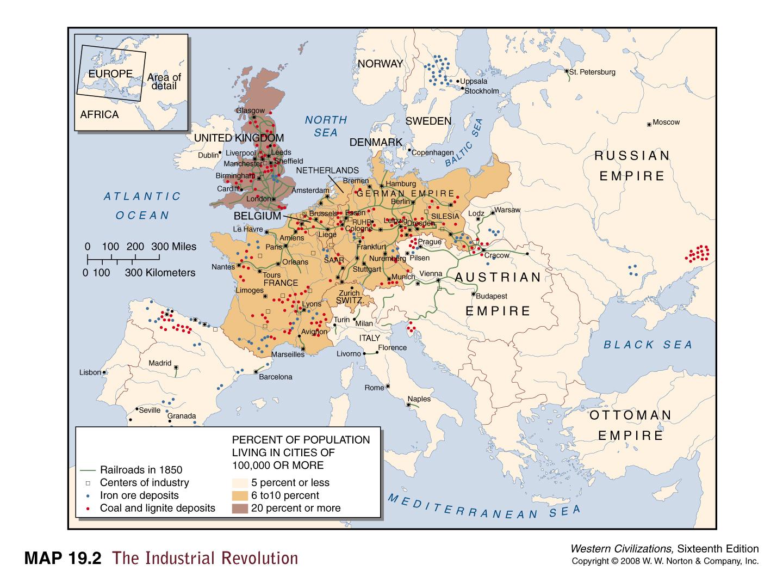Karta Europa 1815.Pramonės Perversmo Konspektas