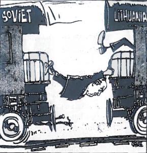 Lietuva, Sovietų Sąjunga ir M. Gorbačiovas, karikatūra