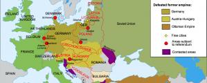 Europos po Pirmojo pasaulinio karo žemėlapis