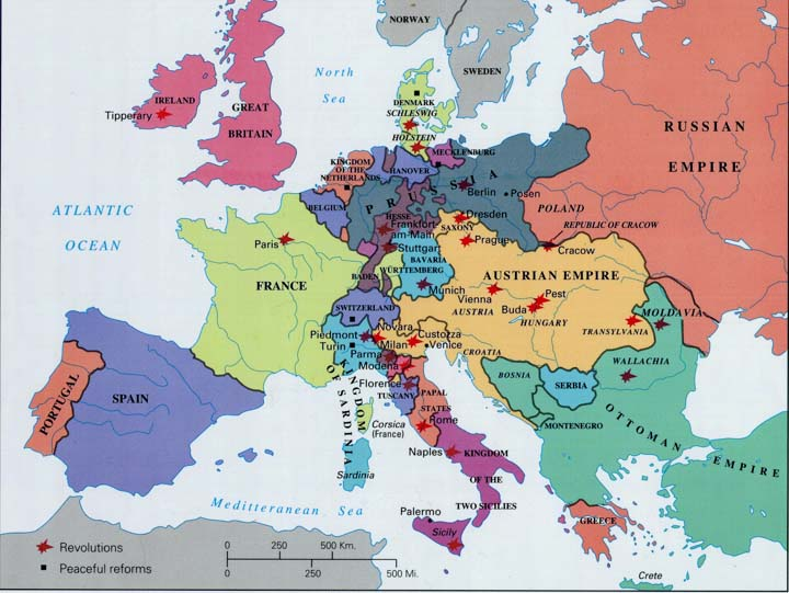 Karta Europa 1815.Tautų Pavasario Ir Valstybių Suvienijimų Konspektas
