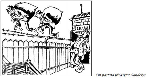 2014 m. VBE šaltinis D, sandelio karikatūra