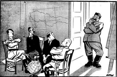 2014 m. VBE Karikatūra Kodėl man nėra kėdės